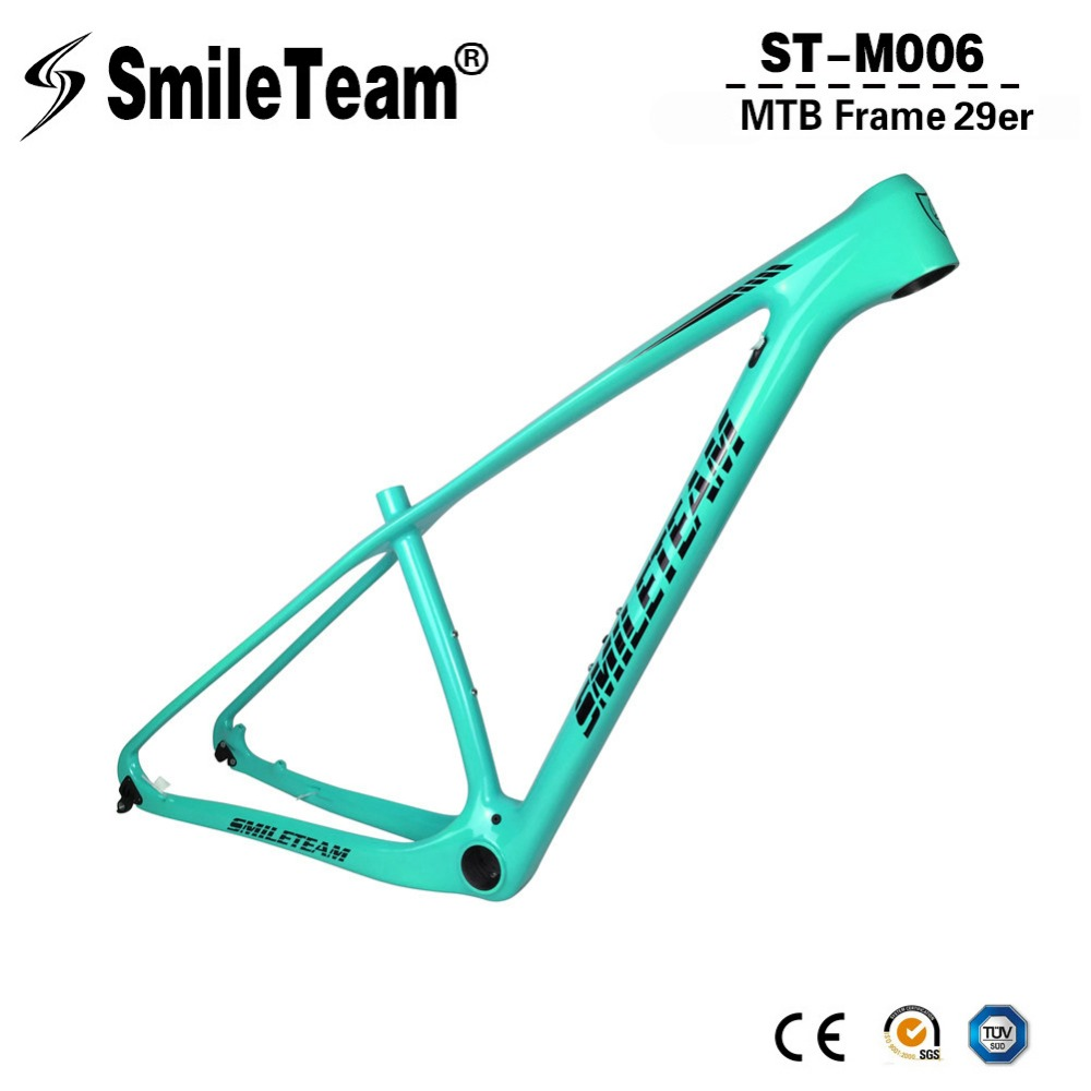 SmileTeam T1000 Carbon MTB Frame 29er Mountain Bike Carbon Frame 142*12mm Thru Axle & 135*9mm QR MTB Bicycle Frameset smileteam new carbon mtb frame 27 5er mountain bicycle frameset 650b 135 9mm carbon frame ud matte or glossy frame headset clamp