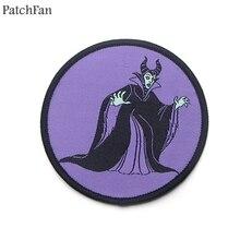 Patchfan Maleficent аппликационные заплатки Сделай Сам Утюг на para обуви джинсы мешок рубашка одежда Джерси наклейки в стиле панк вышитый значок A1853