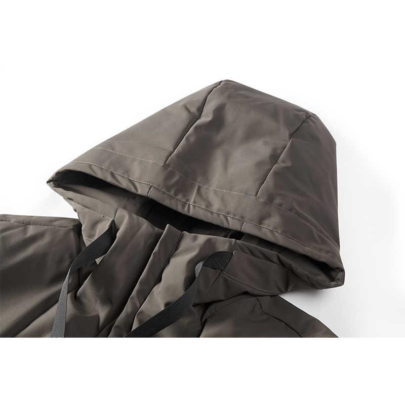 Enjeolon Marke Winter Jacke Männer Lange Parka Jacke Dicken Hut Parka Mantel Männer Stepp Winter Jacke Mantel Kleidung MF0060