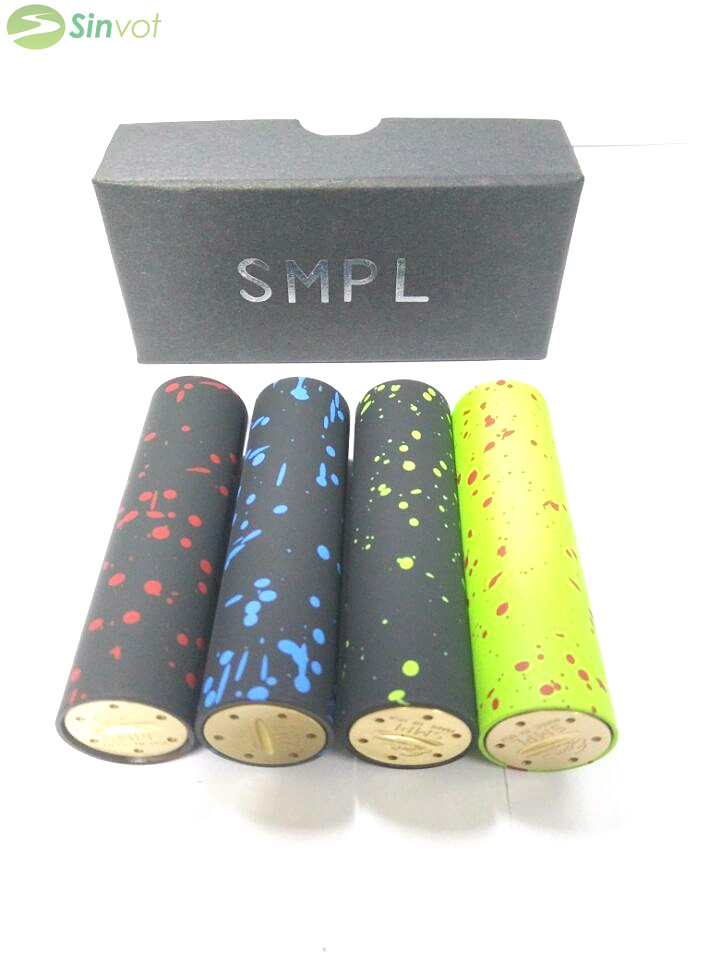 2015 Newest Spot SMPL Mod Full Machanical Mods clone fit for 18650 battery 4 color VS