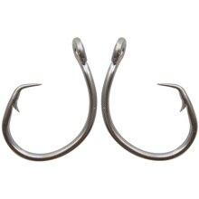 30pcs 39960 Stainless Steel Fishing Hooks White Thick Tuna Circle Bait Fishing Hook Size 8/0 9/0 10/0 11/0 12/0 13/0 14/0 15/0