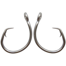 40pcs 39960 Stainless Steel Fishing Hooks White Thick Tuna Circle Bait Fishing Hook Size 8/0 9/0 10/0 11/0 12/0 13/0 14/0 15/0