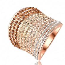 TYME Fashion Rings for women rose gold color Jewelry Austria High-grade Crystal Ring Cuff Cocktail Party Rings men Size 7 8 9