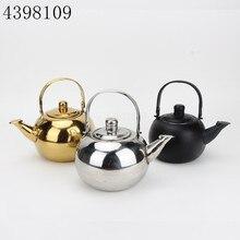Толстые чайник из нержавеющей стали чайный, кофейный набор горшок заварник с фильтром Отель Ресторан дома чайник для индукционной плиты 1/1,2/1.4L