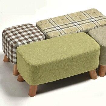 Banco de zapatos de estilo nórdico Simple moderno sofá de tela Taburete...