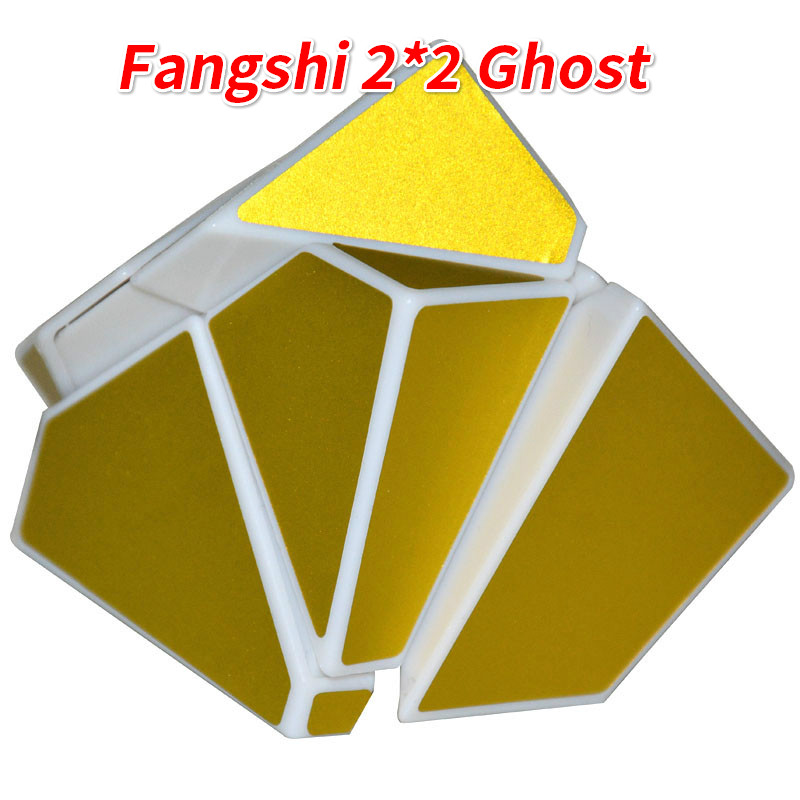 Toys & Hobbies Fangshi Lim 2x2 Ghost Guimo Cube White Base With Golden Or Red Sticker Speed Cube Puzzle Educational Toys Ghost Mofang Diversified Latest Designs
