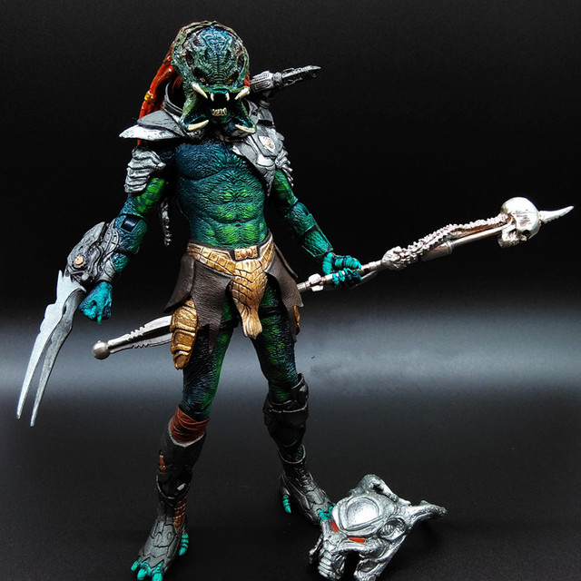 Predator Action Figure Mater Wolf PVC 200mm Anime Movie VS Alien Collectible Model Toy