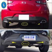Yimaautotrims Accessorio Auto Posteriore per Nebbia Lampade Luci Della Copertura Della Pagina Trim ABS Fit Per Mazda 2 Demio 2015 2016 2017 2018 /2 colori