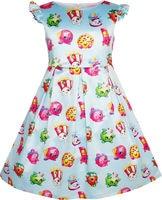 Sunny Fashion Girls Dress Apple Blossom Strawberry Kiss Poppy Corn 2016 Summer Princess Wedding Party Dresses