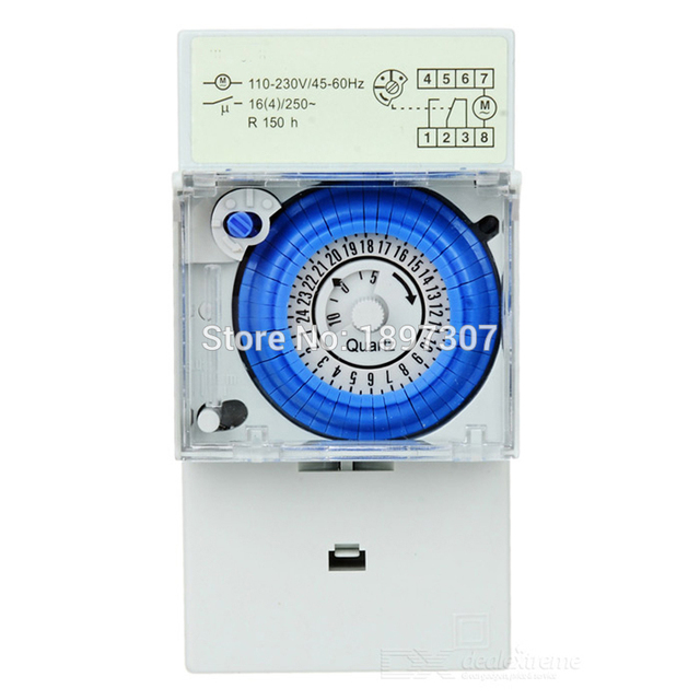 syn161h mechanical 24 hour time switch 220v ac 30 minutes minimum