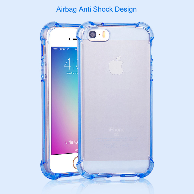 hot sale online 04ff5 46b5a US $3.5 |3D ANTI SHOCK Case For iPhone 5S iPhone SE Airbag 360 Degree Soft  Silicone Cover Case For iPhone 5s 5 SE Coque on Aliexpress.com | Alibaba ...