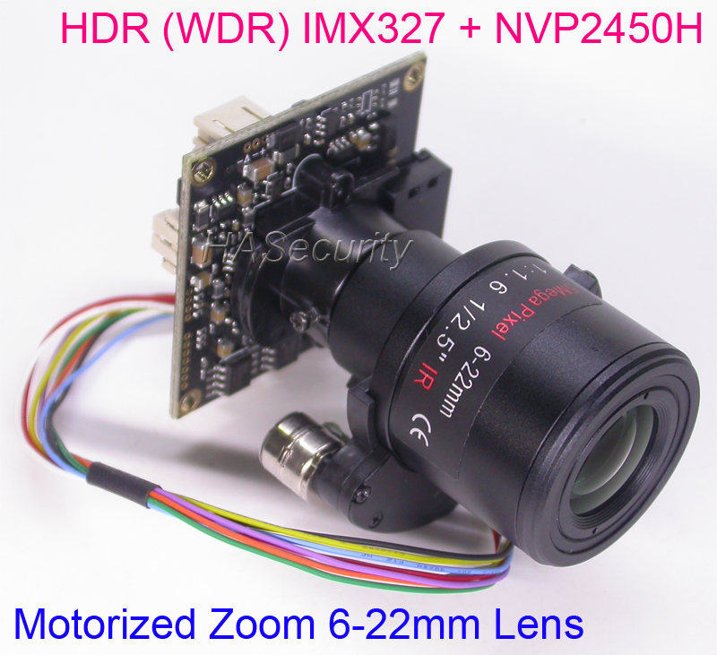 HDR WDR motorized Zoom 6 22mm LENs AHD H 1 2 8 Sony STARVIS IMX327 CMOS