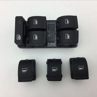 4 Pcs for VW Audi A4 B6 B7 Left Master Power Window Switch Driver Passenger Side Safe Lock Key Button 8E0 959 851 B/8E0 959 855