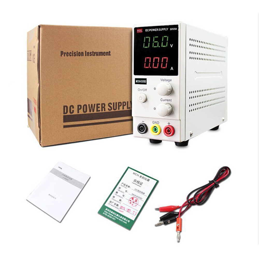 Mini Switching Regulated Digital DC power supply SMPS Single Channel 30V 5A Adjustable Laboratory Power Supply