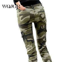 WQJGR 2019 Pants Women Cotton Fashion Camouflage Women Pants Pencil Women Long Pants