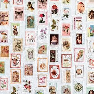 Image 3 - 8PCS/LOT retro Post Office series sticker DIY sticker paper decorative tape masking tape washi tape