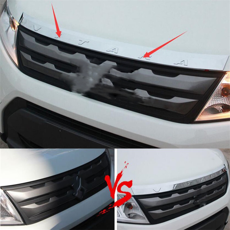 Abaiwai ABS Chrome Fit For Suzuki Vitara 2015 2016 Car Exterior Front Hood Grill Cover Bonnet Trim Cover Car Styling Accessories car styling universal abs plastic hood vents gtr type for any vehicle in stock