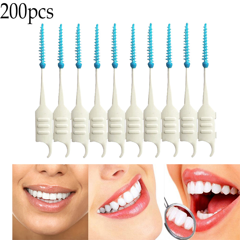 200/20/10pcs Dental Flosser Interdental Brush Clean Teeth Stick Toothpicks Floss Pick Oral Hygiene Tooth Dental Floss Oral