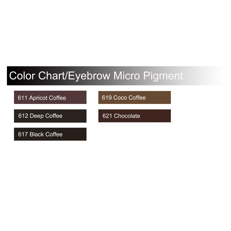 Купить с кэшбэком Safe Eyebrow Micro Pigmentation Ink Kits Eyebrow Micro-pigments kits Premium Eyebrow Micropigmentation Kits for Permanent Makeup