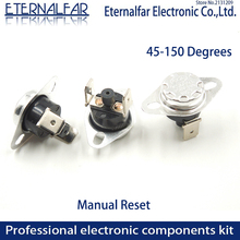цена на KSD301 KSD303 10A 45 65 97 150 C Degrees Celsius Manual Reset Thermostat Normally Closed Temperature Switch Temperature Control