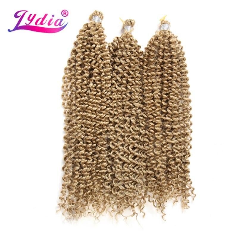 "Image 5 - Lydia Bohemian Freetress Hair Extension Crochet Braid Hair 14"" 3PCS Pure Color Kanekalon Bulk Synthetic Braiding Hair Afro Kinkykinky afrokinky afro hairkinky kanekalon -"