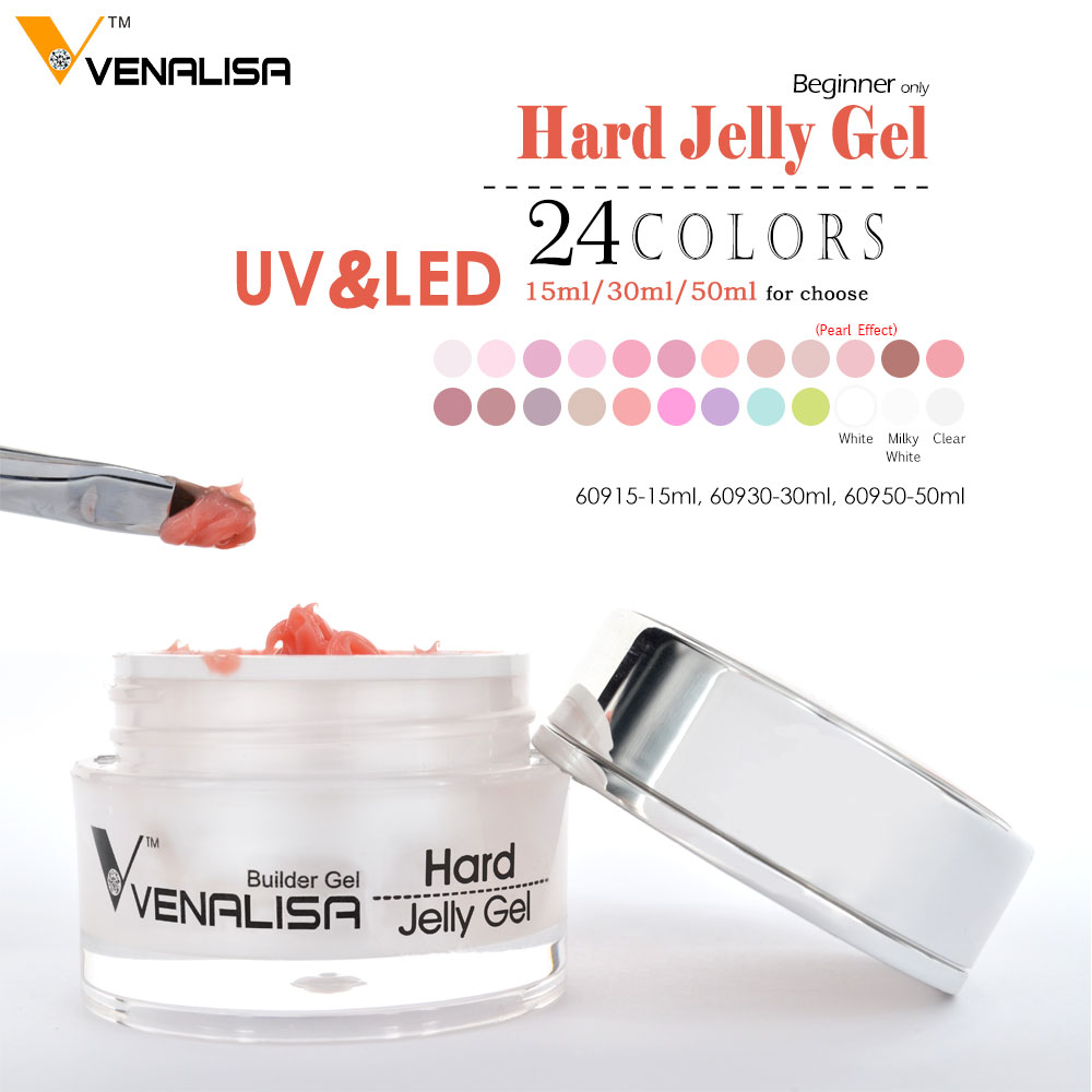 #60915 Venalisa 24 Colors Cheap UV LED  Builder Gel 15ml Soak Off Camouflage GEL Hard Jelly Gel