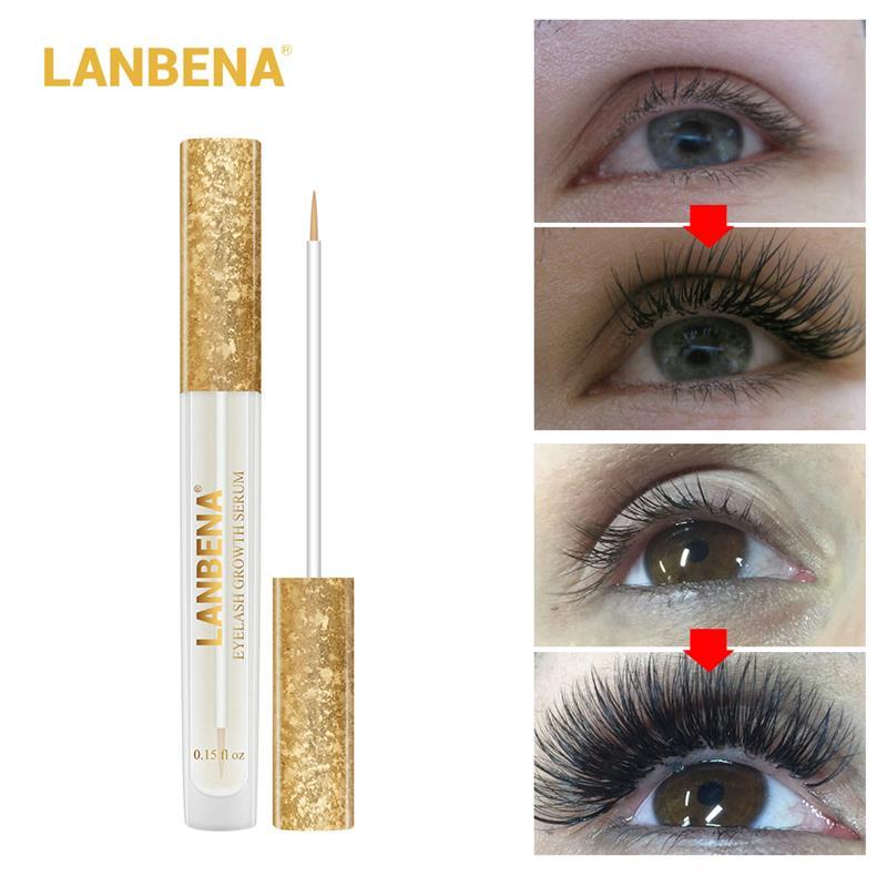 LANBENA Eyelash Growth Essence Serum Eyelash Enhancer Longer Fuller Thicker Lashes Eyelashes and Eyebrows Enhancer Eye Care