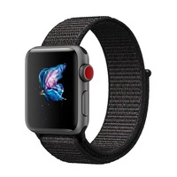 LEONIDAS Breathable Nylon Sport Loop Band For Apple Watch Series 3 2 1 42MM 38MM For