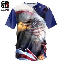 OGKB USA Flag Tshirt New Harajuku Women/men 3d Print Amercian Eagle T-shirt Unisex Hiphop Short Sleeve O-neck Tee Shirts