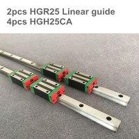 2pcs 선형 가이드 레일 hgr25-950 1000 1050 mm 4pcs 선형 캐리지 hgh25ca/hgw25ca cnc 부품