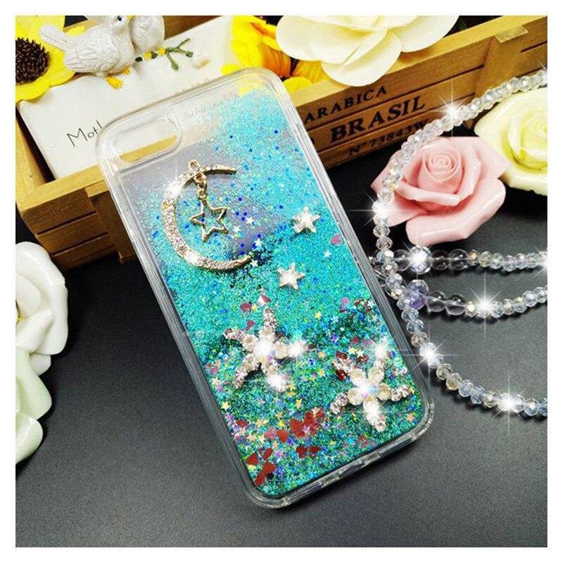 Pour Samsung J3 J5 J7 2016 2017 Premier Pro Mignon Filles strass Diamant Étoiles Lune Bling quicksand Liquide sable doux cas de téléphone