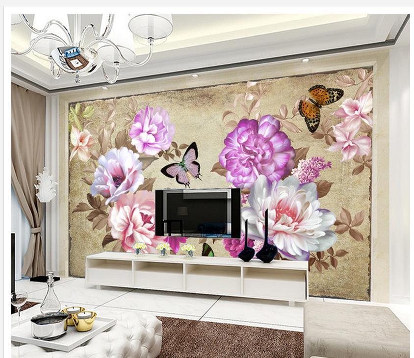 mode pivoine fleur tv toile de fond 3d mur murales wallpaper accueil d coration papier. Black Bedroom Furniture Sets. Home Design Ideas