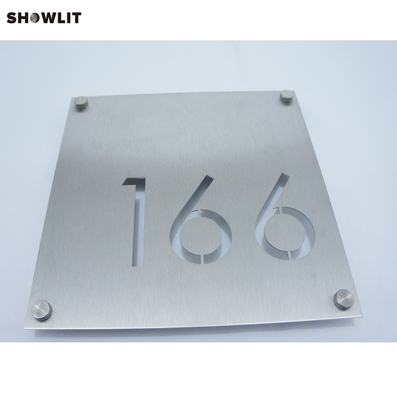 Custom Modern House Address Number Sign Plaque custom acrylic frosted house sign modern number name plaque 200x140mm home