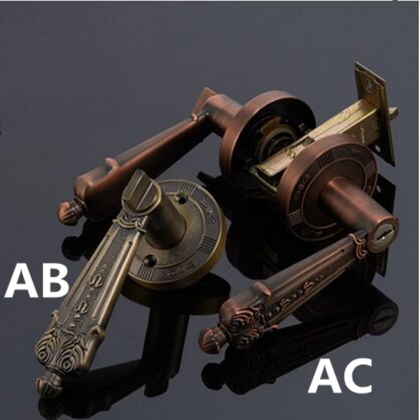 European style retro simple antique brass antique copper bedromm bookroom kitchen cabinet solid wooden door handles locks phasat 4411 retro style copper triangle valve antique brass