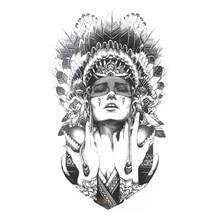 Индийские воины Временные татуировки Средства ухода за кожей Книги по искусству флеш-тату Наклейки Водонепроницаемый Tatto хна татуировки hs11