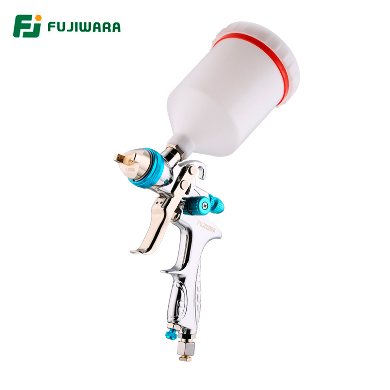 цена на FUJIWARA HVLP Pneumatic Spray Lacquer Gun 1.4mm Nozzle High Atomization Large Capacity Paint Gun 600ml