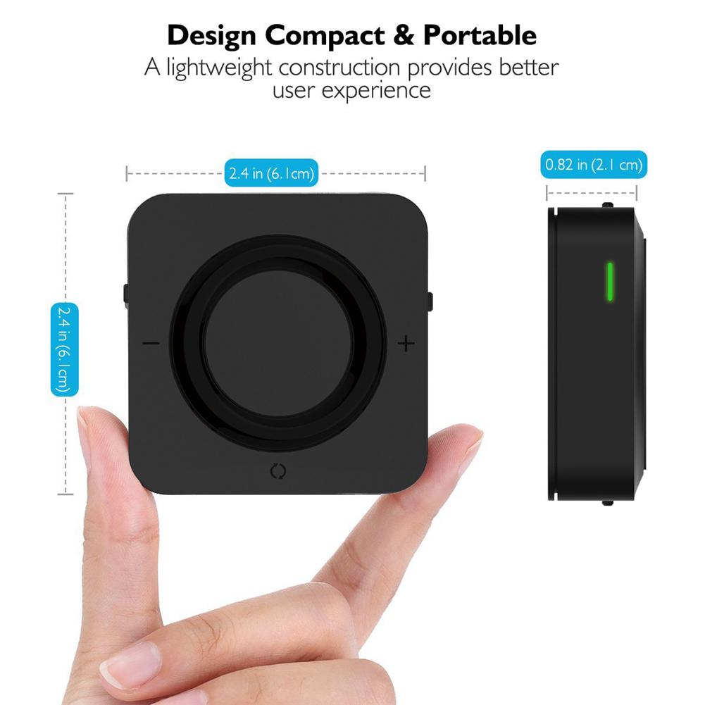 Bluetooth 5,0 волоконно-оптический Bluetooth передатчик приемник Отправитель 2 в 1 с оптическим+ RCA+ 3,5 мм совместимый - Цвет: Black