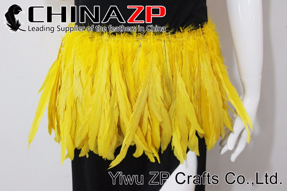 2Yellow Roster tail Feather strung (1)