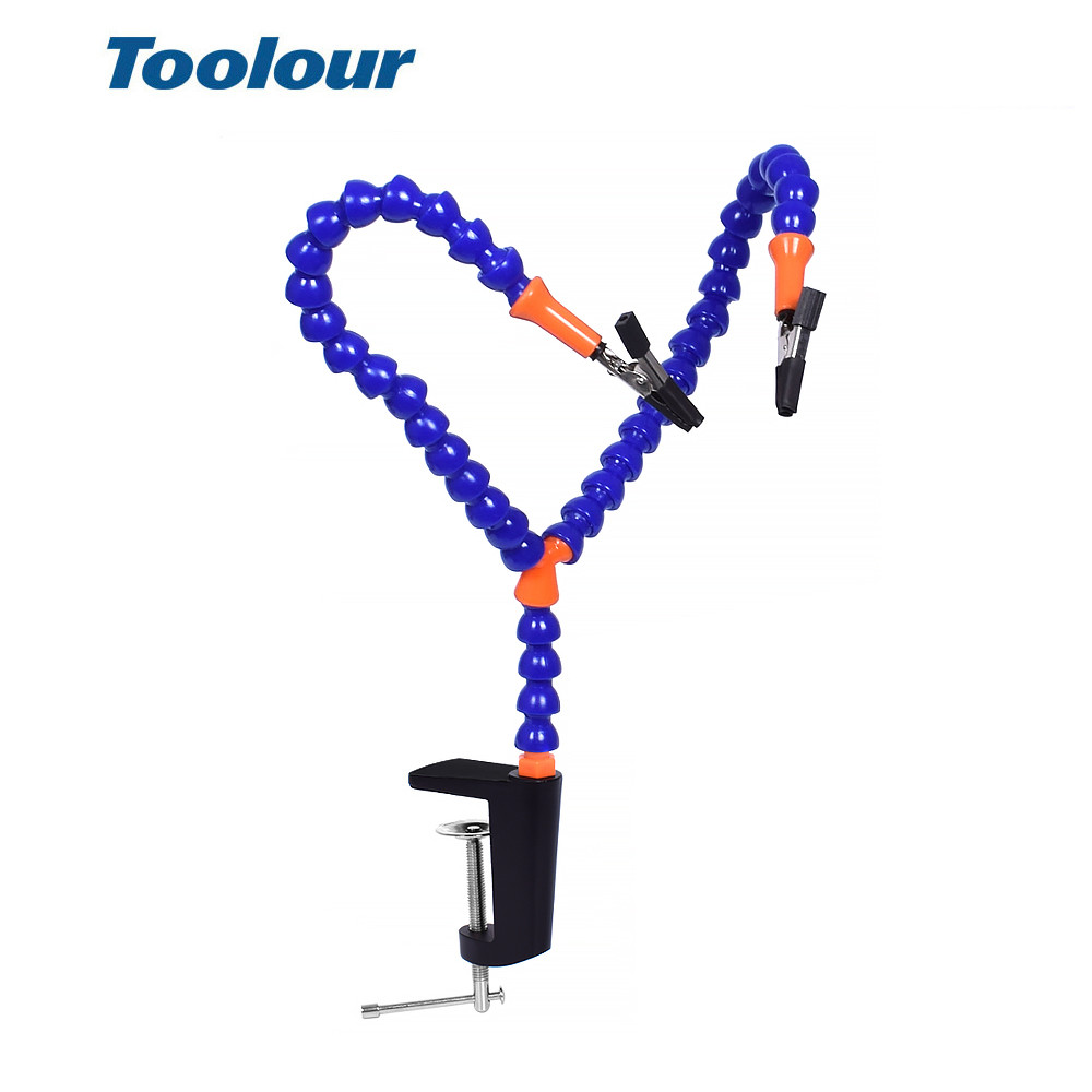 Toolour Soldering Helping Hand Bench Vise Table Clamp Soldering Stand Third Pana Hand PCB Welding Repair Tool Soldering Station