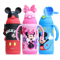 400ML Baby Insulated Cup Kids Feeding Water Cup With Straw Children School Kettle 304 Stainless Steel Thermal 3D Cup 2018