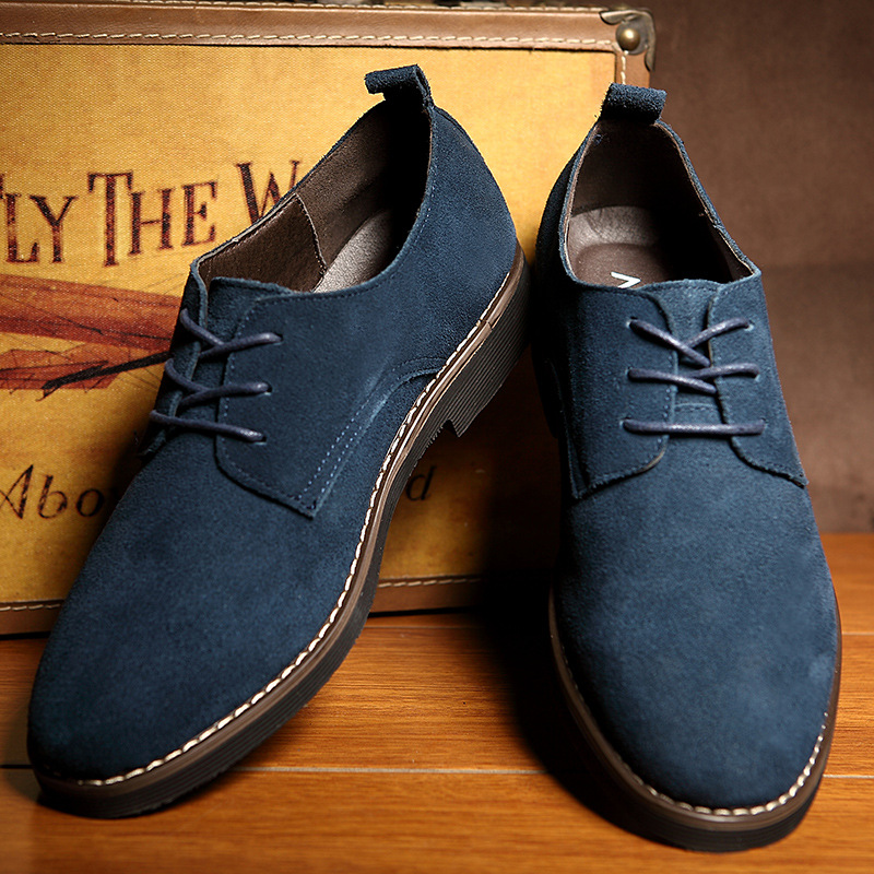 Plus Size 38-48 Oxford Men Shoes PU Suede Leather Spring Autumn Casual Men Leather Shoes Male Dress Shoes 3