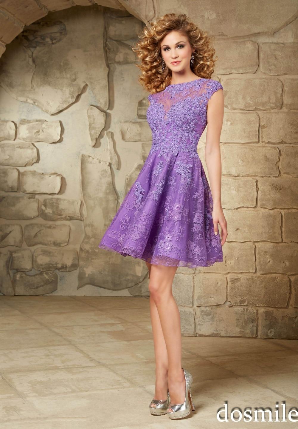 2016 corto de fiesta vestidos púrpura turquesa magnífico cóctel de ...