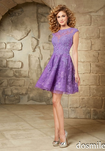 2c2bffa5871 2016 short homecoming Dresses purple turquoise gorgeous lace cocktail party  gown sweet 16 dress 8th graduation semi formal dress