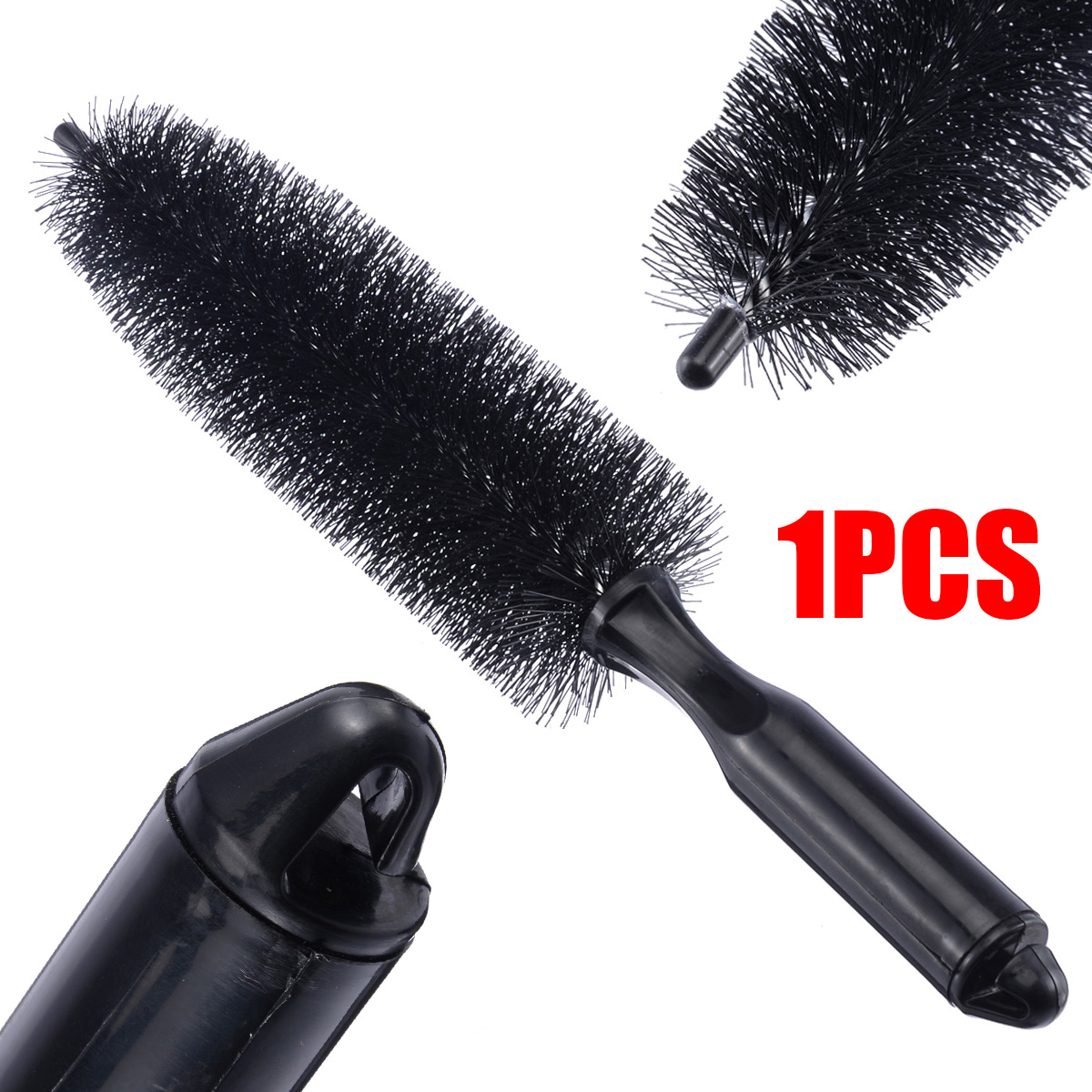 Image 3 - 1 pc Black Car Wheel Tire Rim Hub Scrub Brush Car Styling Vehicle Washing Cleaning Tool-in Sponges, Cloths & Brushes from Automobiles & Motorcycles