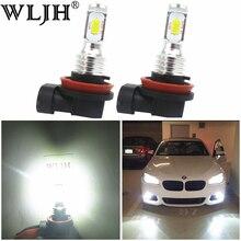 WLJH 2x Canbus 12 فولت 24 فولت H8 Led لمبة الضباب المصباح الكهربي H8 مصابيح لسيارة BMW E39 E46 E60 E70 E72 E90 E92 E93 E81 E82 E84 F10 F15 F20 F25