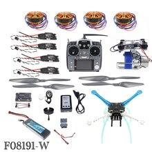 JMT DIY Unassembly 2.4G 10ch RC Quadcopter Drone 500mm S500-PCB APM2.8 M8N GPS Essieux Cardan RTF Kit Complet Moteur ESC F08191-W