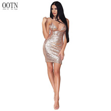 OOTN 2018 Sequin Glitter Dress Women Slip Tunic Party Club Zipped Green Red Dresses Female Spring Summer Sexy Short Robe Clothes