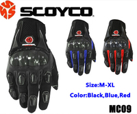 Newest Motorcycle Full Finger Gloves Motorbike Cycling Protective Gears Scocyo MC09