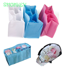 new Baby Diaper Nappy Changing Storage Bags Inner Containers Maternity Handbag Multi Liners Lining Divider blue pink S M L Sizes