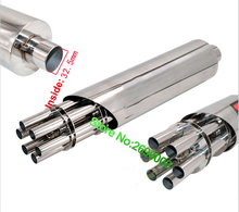 Inlet 32.5mm Akrapovic Motorcycle Exhaust Pipe Stainless Steel Gatling Gun Style Motorbike Scooter Exhaust End Pipe Mufflers
